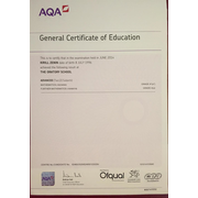A-level Mathematics certificate